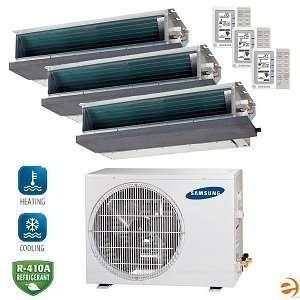 Tri Zone Concealed Ceiling Mini Split Heat Pu