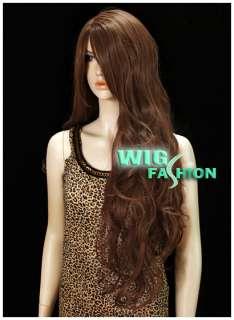 Anime Cosplay Long Dark Brown Hair Wigs MB86