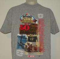 DAYTONA 500 50 YEARS Medium T SHIRT NASCAR GREAT AMERICAN RACE FREE s