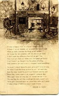 Antique Poetry Card Home Edgar Guest