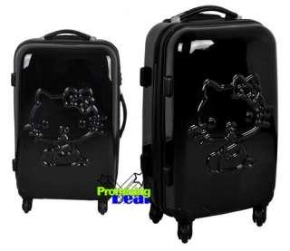 Hello Kitty Luggage Bag Trolley Baggage Roller 24Black
