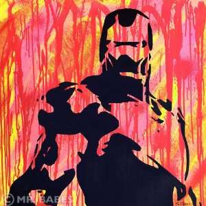 Iron Man Original Acrylic On Canvas Painting Pop Art