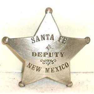 Deputy Sante Fe New Mexico Obsolete West Police Badge Star