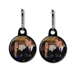 Prince William Kate Middleton Royal Wedding 2 Pack 1 Black Zipper Pull