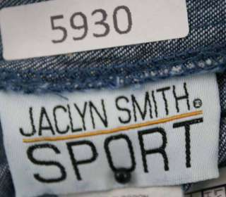 Jaclyn Smith Sport sz Large Womens Blue Jeans Denim Shorts NO44