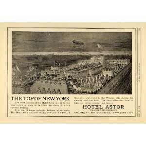 1916 Ad Roof Garden Hotel Astor New York Muschenheim