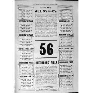 1901 Advertisement Beechams Pills 56 Medicine