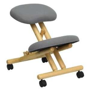 Flash Furniture Mobile Wooden Ergonomic Kneeling Chair In