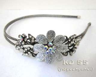 H210 Rhinestone Flower Butterfly Headbands Hair Crystal