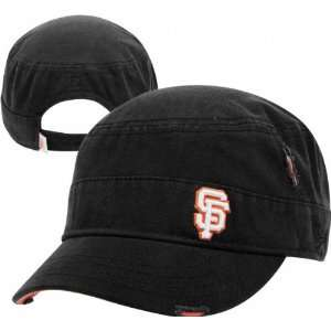 San Francisco Giants Womens Ripped Military Hat  Sports