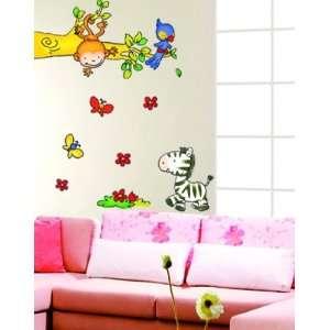Tree with Zebra Wall Sticker Decal for Baby Nursery Kids Room Baby