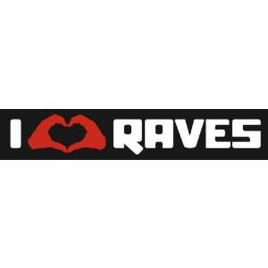 I Love Raves Hand Heart Electronic DJ Laptop Techno Vinyl