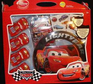 New NWT  Cars Lightning McQueen Party to Go pack gift lot