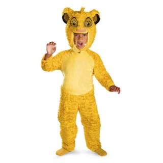 Toddler Kids Disney The Lion King Simba Deluxe Costume