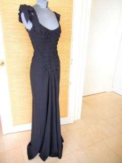 MARC JACOBS black eve Dress 6 divine rear bow Cobalt blue petticoat