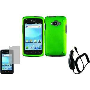 Neon Green Hard Case Cover+LCD Screen Protector+Car