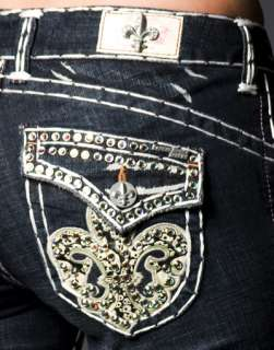 Laguna Beach Jeans W 3rd Gen Crystals Double Straight