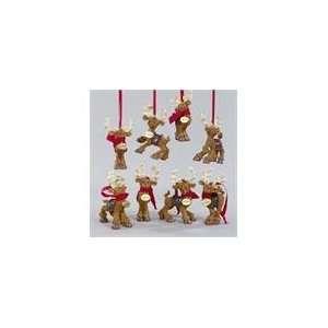 Pack of 8 Santa Claus Reindeer Christmas Ornaments 4.5