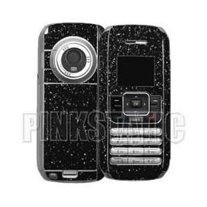 LG VX9900 enV vinyl skins w/keypad   BLACK SPARKLE