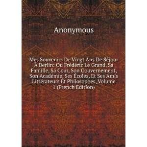 coles, E Ses Amis Liéras E Philosophes, Volume 1 (French