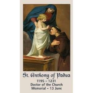 Saint Anthony of Padua Holy Prayer Card
