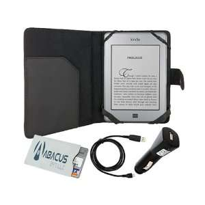 Black Leather Cover Folio Case for  Kindle Touch Wi