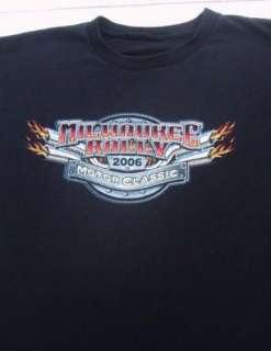 MILWAUKEE RALLY 2006 motorcycle classic XL T SHIRT