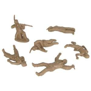 Plains Indian Dismounted Warriors with Casualties Plastic Army
