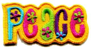 hippie flower power retro weed applique iron on patch new S 33