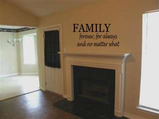 FAMILY FOREVER Vinyl Wall Art Decal Home Quote 36