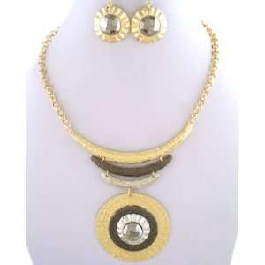 Fashion Jewelry ~ 2 Tone Necklace Set