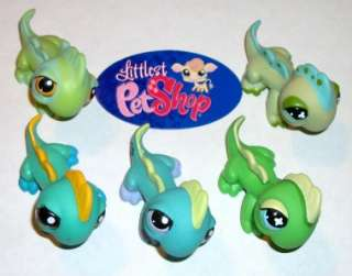 /LIZARD LOT~#97 651 499 1319 1778 GREEN YELLOW~Littlest Pet Shop E70