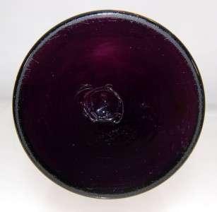 Victorian Amethyst Purple Enamel Satin Glass Bud Vase