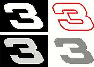 NUMBER 3 VINYL DECAL Dale Earnhardt STICKER NASCAR