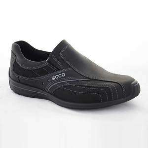 Ecco Mens Casual Shoes Stream Black Leather