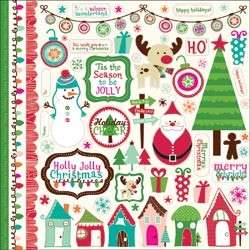 New ECHO PARK Scrapbook HOLLY JOLLY CHRISTMAS STICKERS
