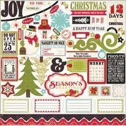 14pc 12X12 ECHO PARK Scrapbook SEASON GREETINGS Christmas KIT