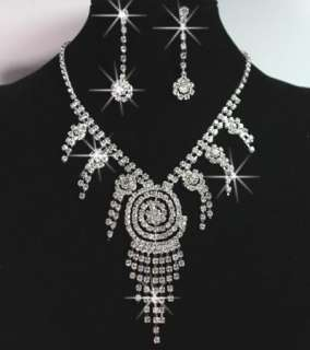 Hottest styles Charming Wedding/Bridal Czech Crystal Necklace Sets In