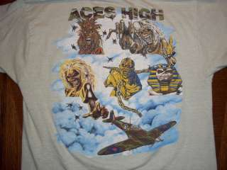 MAIDEN 1983 ACES HIGH concert tour t shirt MEDIUM M soft Eddie