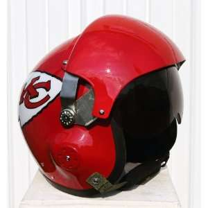 Kansas City Chiefs Fighter Pilot Helmet   NFL Football