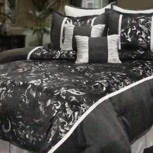 Veratex 454 Farina Comforter Set in Black