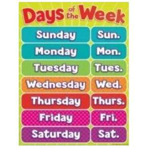 Teachers Friend 978 0 545 19637 6 Days of the Week Chart Toys & Games