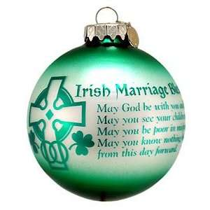 Personalized Irish Marriage Blessing Ornament (Order by 12