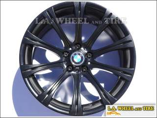 Set of 4 BMW M5 OEM 19 Black Powdercoat Wheels Rims EXCHANGE