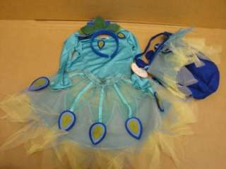 NEW Pottery Barn Kids Peacock Halloween Costume Sz 2 3