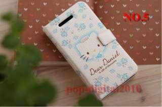 Hello Kitty Full body PU Leather Flip Case Cover Pouch for iPhone 4 4G