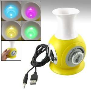 Gino  Color Changing LED Light Vase Shape Speaker
