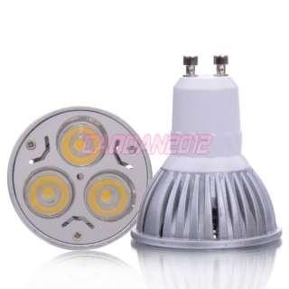 New GU10 3 LED 3W High Power LED Warm White Light Lamp Bulb 85~240V