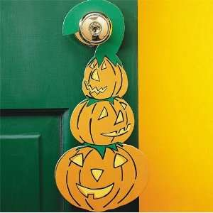 Halloween Pumpkin Doorknob Hangers Craft Kit (Makes 24