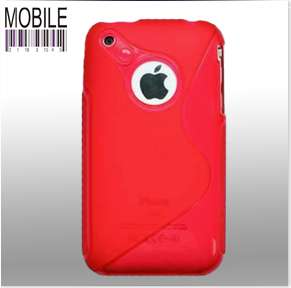 PINK SILICONE S LINE CASE COVER FITS IPHONE 3G/3GS